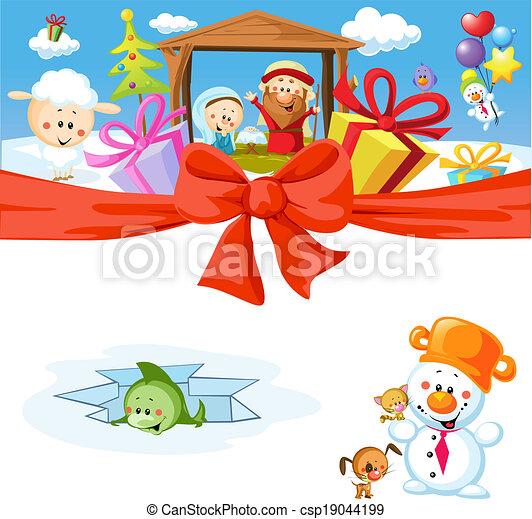 funny vector christmas design - csp19044199