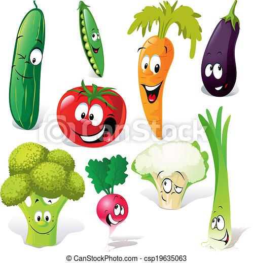 funny vegetable cartoon - csp19635063