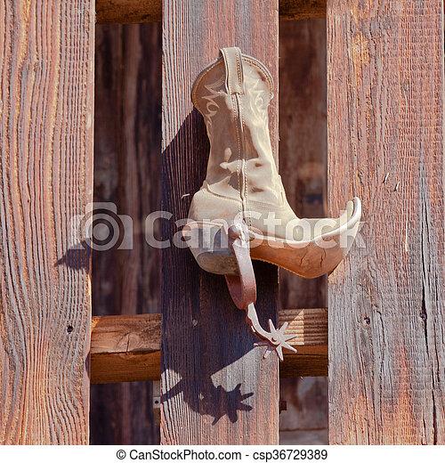 48674a8ecb0 Funny vintage cowboy riding boot decoration