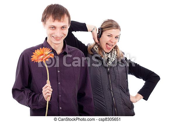 Funny weird couple - csp8305651