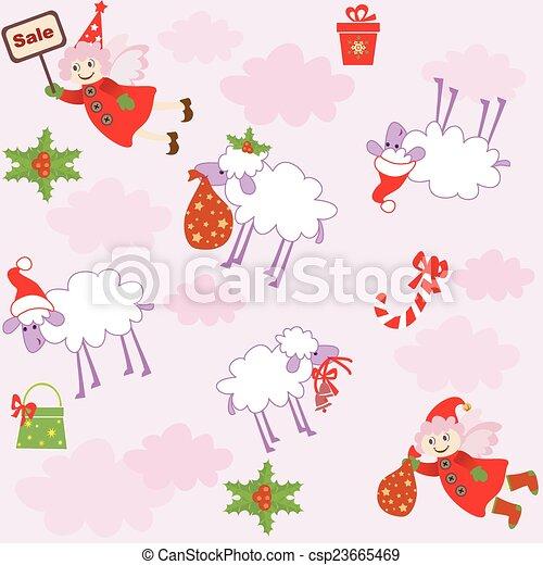 funny xmas wallpaper clip art vector csp23665469