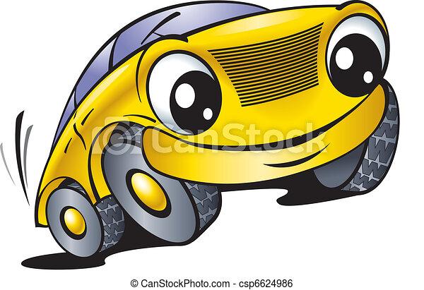 Funny yellow car - csp6624986