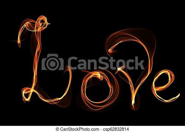 fuoco, amore, illustrazione - csp62832814