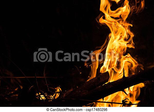 fuoco, astratto - csp17480298