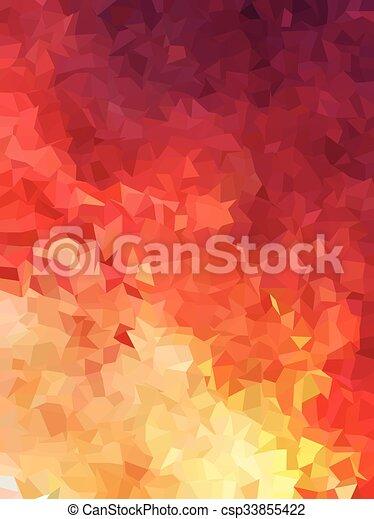 Fuoco Astratto Colorare Sfondo Rosso Triangoli