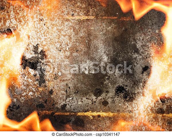 fuoco, astratto, cornice - csp10341147
