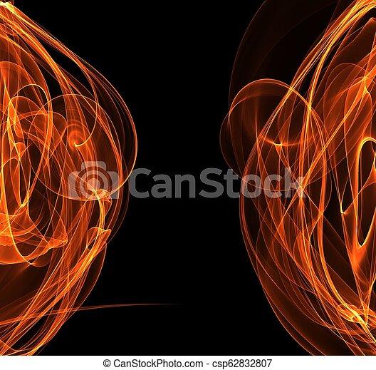 fuoco, astratto, cornice, copyspace - csp62832807