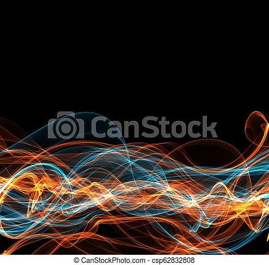 fuoco, astratto, cornice, copyspace - csp62832808