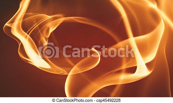 fuoco, astratto, fondo - csp45492228