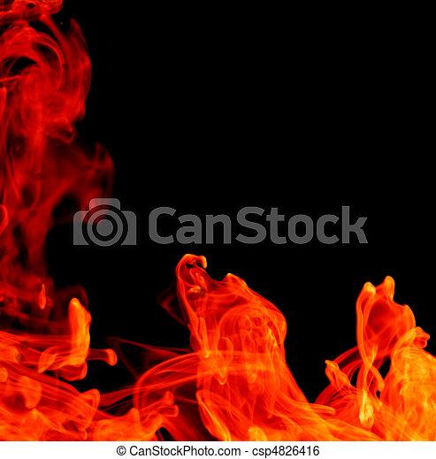 fuoco, astratto, fondo - csp4826416