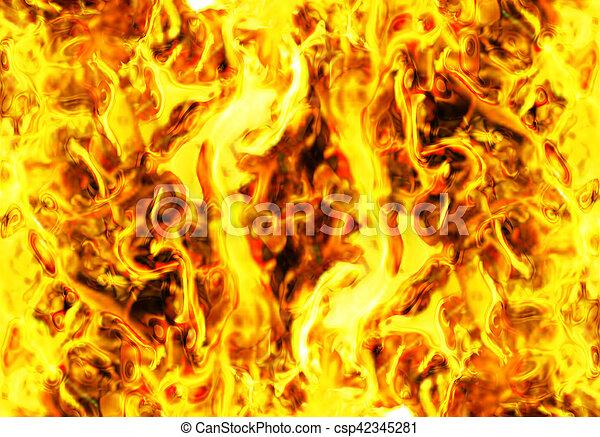 fuoco, astratto, fondo - csp42345281