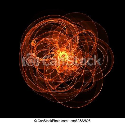 fuoco, astratto, illustrazione - csp62832826