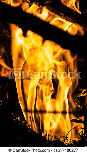 fuoco, astratto - csp17480277