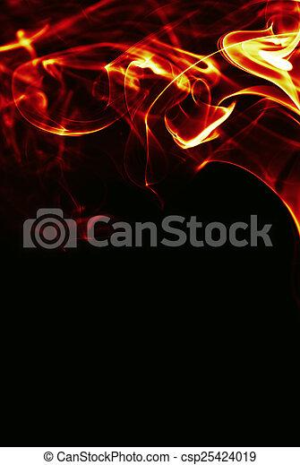 fuoco, astratto, nero, cornice, bacground - csp25424019
