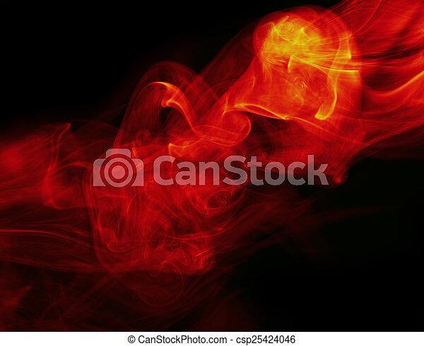 fuoco, astratto, sfondo nero - csp25424046