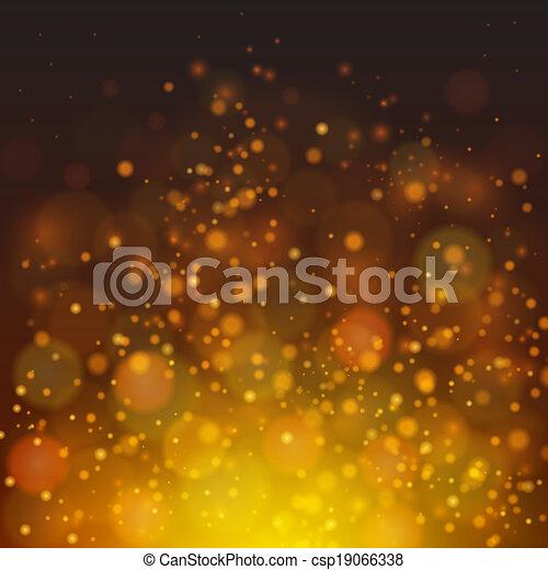 fuoco, astratto, vettore, bokeh, fondo - csp19066338