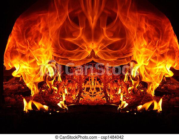 fuoco, astrazioni - csp1484042