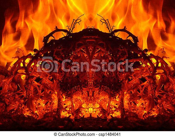 fuoco, astrazioni - csp1484041
