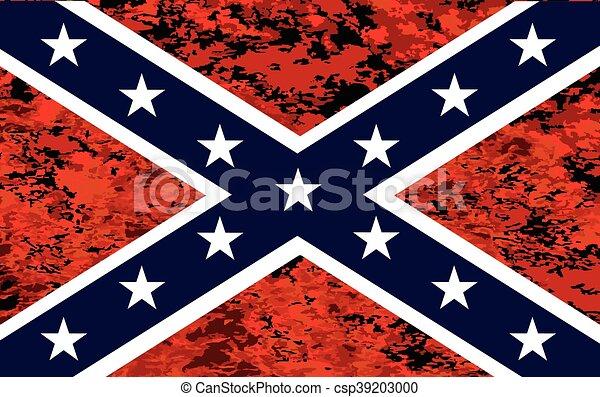 fuoco, bandiera, sopra, confederato - csp39203000