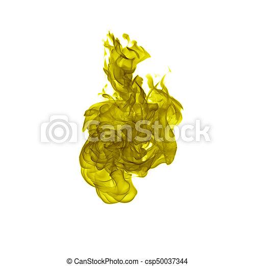 fuoco, bianco, backgound, fiamma, isolato - csp50037344