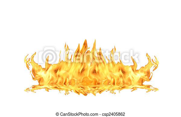 fuoco, bianco, fiamma - csp2405862