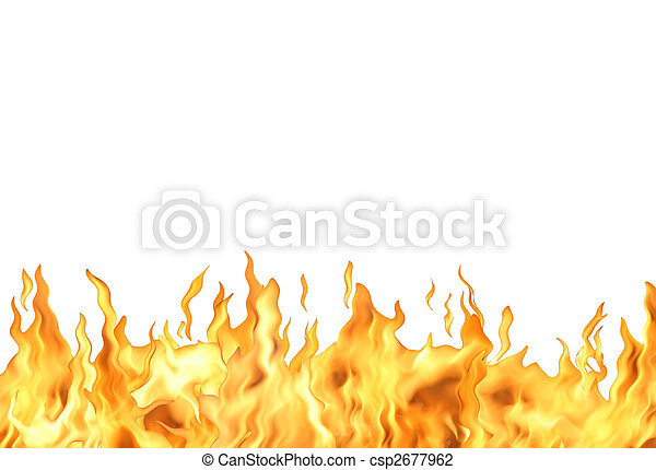 fuoco, bianco, fiamma - csp2677962