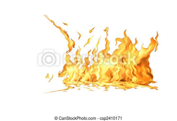 fuoco, bianco, fiamma - csp2410171