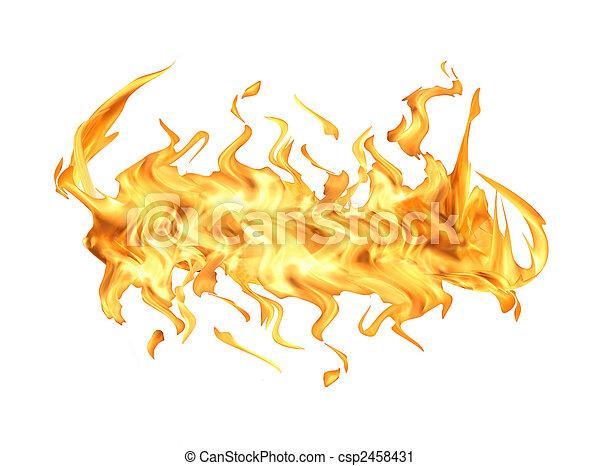 fuoco, bianco, fiamma - csp2458431