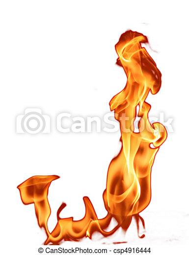 fuoco, bianco, isolato - csp4916444
