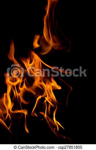 fuoco, black., astratto - csp27851805