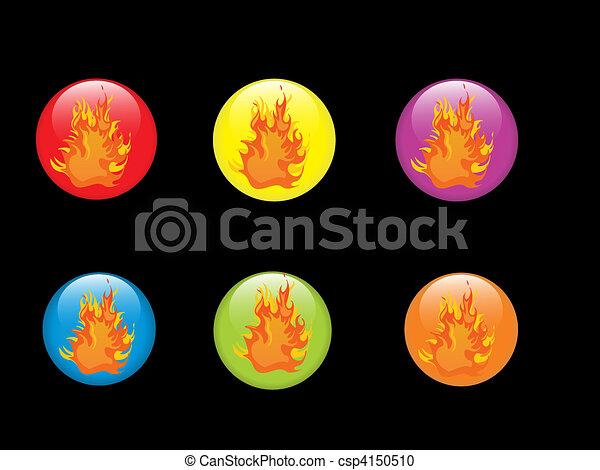 fuoco, bottoni - csp4150510