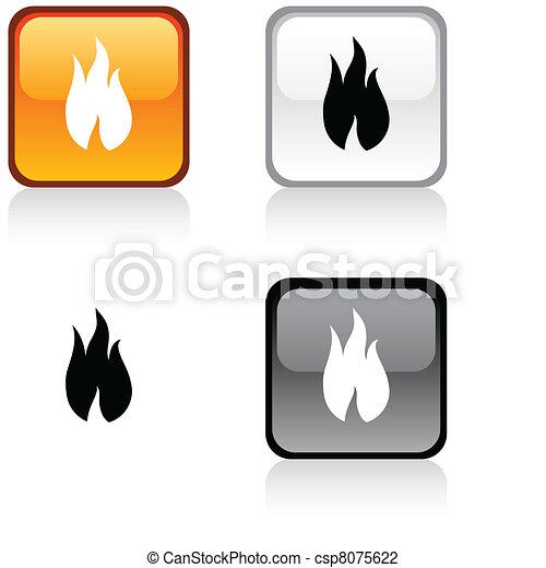 fuoco, button. - csp8075622