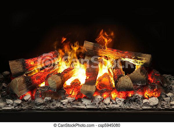 fuoco, caminetto - csp5945080