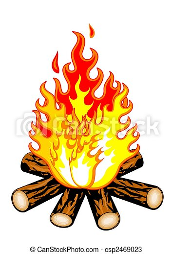 fuoco, campeggiare - csp2469023