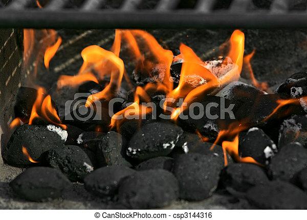fuoco, carbonella - csp3144316