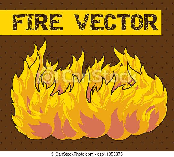 fuoco, cartone animato - csp11055375
