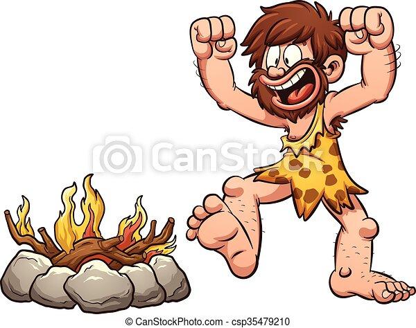 fuoco, caveman - csp35479210