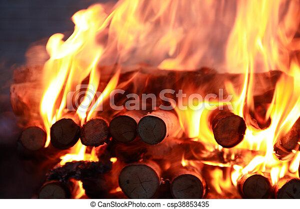 fuoco, fiamma, fondo - csp38853435