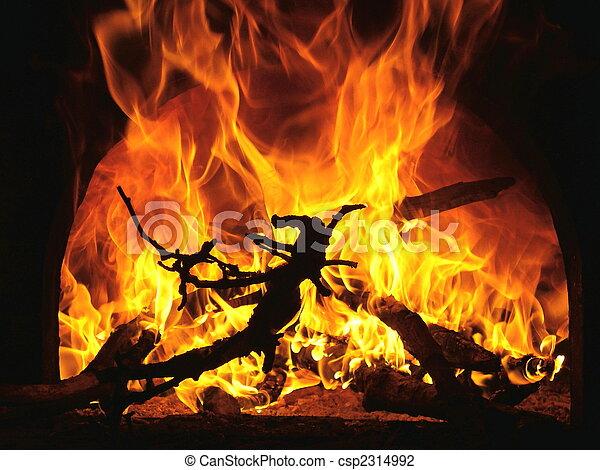 fuoco, fiamme - csp2314992