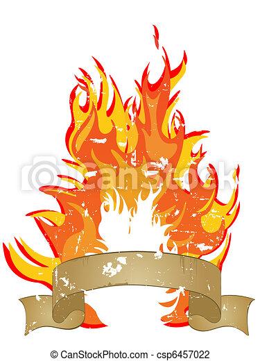 fuoco, -, fiamme - csp6457022