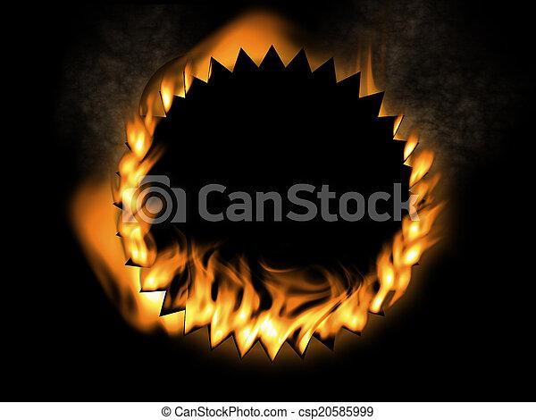 fuoco, fondo - csp20585999