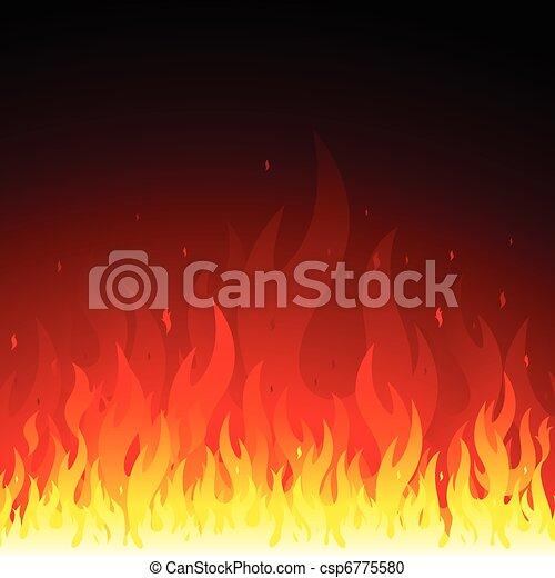 fuoco, fondo - csp6775580