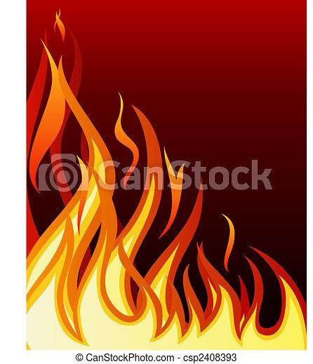fuoco, fondo - csp2408393