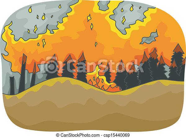 fuoco, foresta - csp15440069