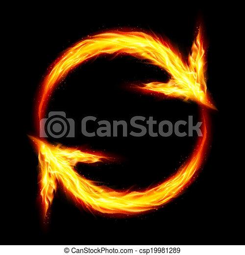 fuoco, frecce, circolare - csp19981289