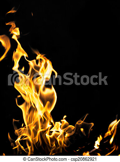 fuoco, nero, astratto, fiamma, fondo - csp20862921