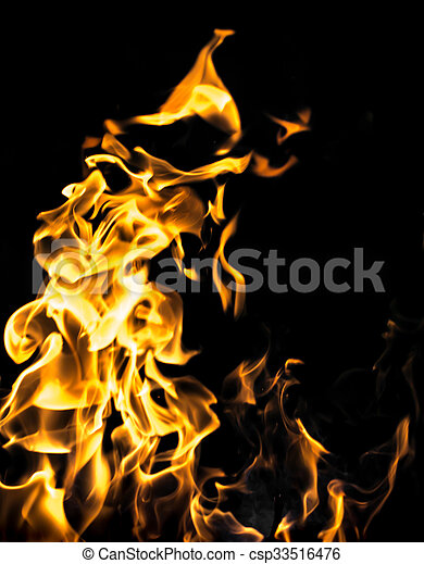 fuoco, nero, astratto, fiamma, fondo - csp33516476