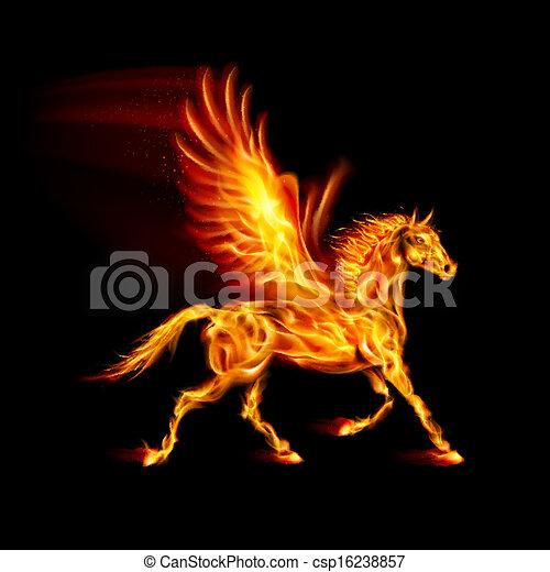 fuoco, pegasus. - csp16238857
