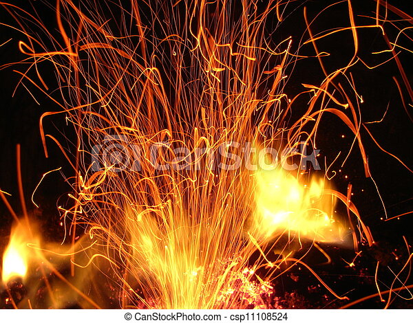 fuoco, scintille - csp11108524
