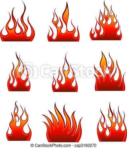 fuoco, set, icona - csp3160270